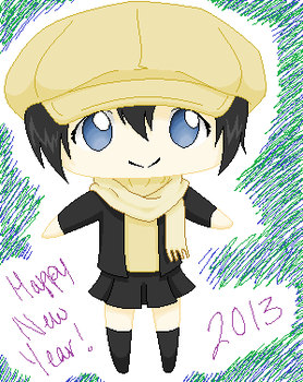 Female Yoite Chibi - Happy New Year! (2013) by Zezire