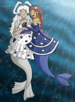 [C] Mermaids Katara x Yue by izka197