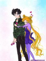 Mamoru Chiba and Usagi Tsukino - with you by zelldinchit
