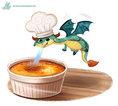 Daily Paint #1190. Creme Brulee by Cryptid-Creations