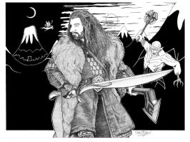 Thorin Oakenshield by jessehbechtold
