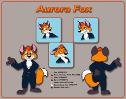 Aurora Fox Reference Sheet by crazyyellowfox