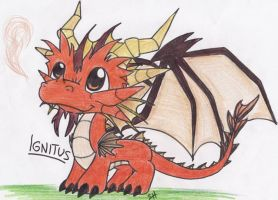 Teeny Tiny Baby Ignitus From Spyro by GhostLover2413
