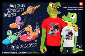 Dinosaurs coming back to Earth. ON SALE by pandapaco