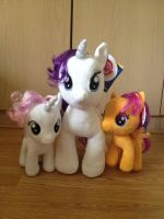 Rarity with Sweetie Belle and Scootaloo  Teddy by extraphotos