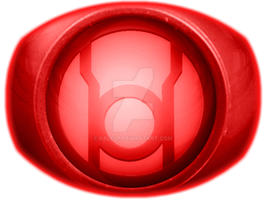 Red Lantern Ring Coloured by KalEl7