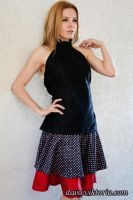 Lace Top and Polka Dot Skirt by DaisyViktoria
