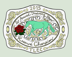 TLEC Annual Training Show - Res Champion Buckle by TimberlakeLaneEC