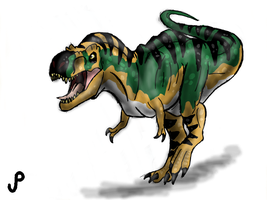 The Lost World Jurassic Park T-rex Bull by Alien-Psychopath