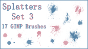 GIMP Splatter Brushes Set 3 by Illyera