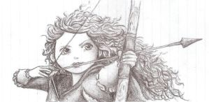 Merida sketch by razzlepazzledoodot