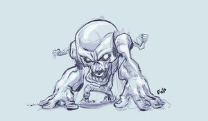 Skull Knuckles - Cool Down Sketch by EryckWebbGraphics