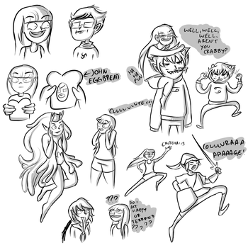 friend doodles by Eritcha