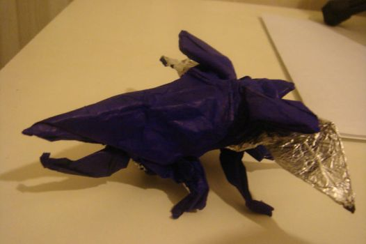 Origami Hercules Beetle by JacqueProductions