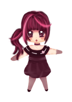 chibi pink by aquaalice