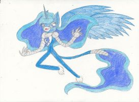My Little Robot Monkeys : Princess Luna by RoxasPikachu