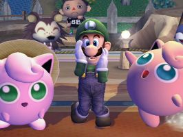 Luigi and Jigglypuffs by EpicBrawlPictures
