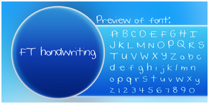 Handwriting Font by missfairytaled
