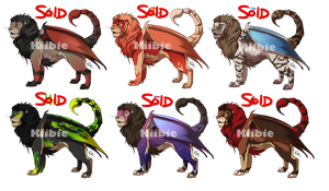Manticore adoptables -CLOSED- by Kiibie-Adopt