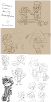 Sketchdump - Development of drawing cartoon people by Finchwing