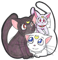 Sailor Moon Cats by paranormal-dog