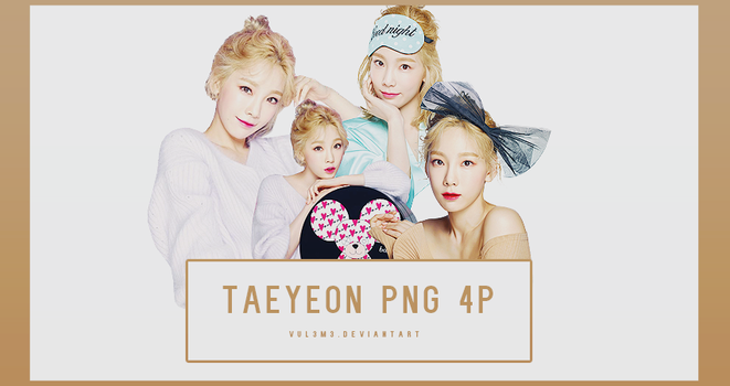 TaeYeon BANILA CO 4P PNG by vul3m3