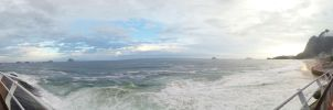 Panorama from the bike lane by TheDrifterWithin