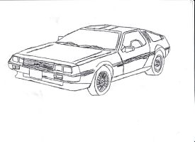 Crappy DeLorean DMC-12 Attempt by Sting-Eucliffe