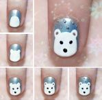 Cute Polar Bear Nail Art Tutorial by psychoren