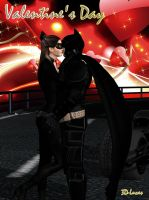 Catwoman and Batman The Kiss by 3d-lucas