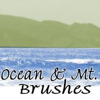 Ocean and Mtn Brushes by NotPeople-Stock
