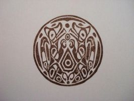 Wolf Pack tattoo rubber stamp by dragonflycurls