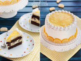 Lemon meringue chocolate cake by kupenska