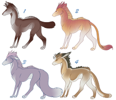 Panther Hound Adoptables 1 CLOSED by NakkAdoptables