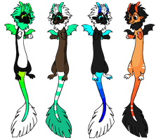 Dragon Adopts [3/4 Open] by Mulch-Adopts
