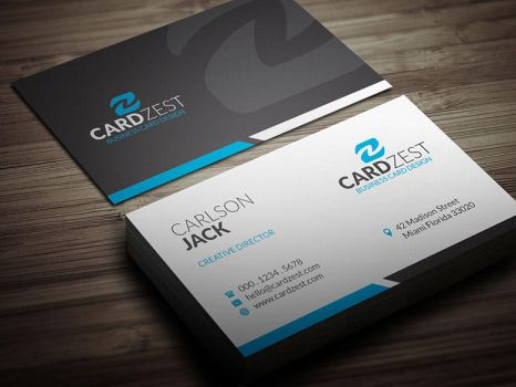 Basic Clean Corporate Business Card Template PSD by mengloong