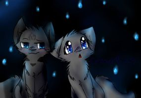 Jayfeather and Cinderheart by Emberheart23