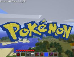 Pokemon Logo In Minecraft by AlexanderNB