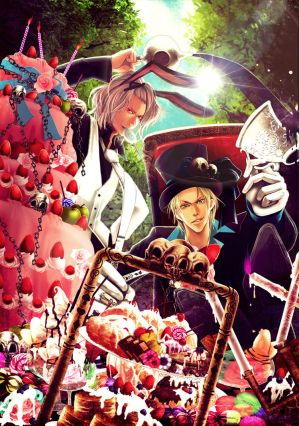 The Mad Hatter and March Hare by ~asahimanyou