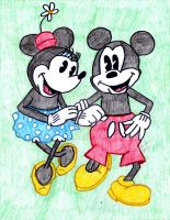 mickey and minnie by 4clovesofsummer