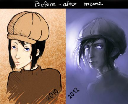 Before-After meme by Kana-dez