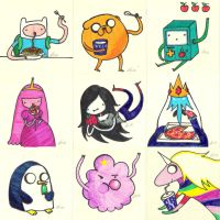 Adventure Time post-it project by fungopolly