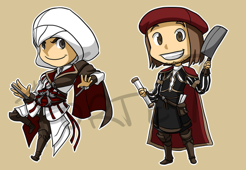 Stickers: Assassin's Creed II by forte-girl7