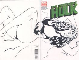 She Hulk Sketch cover by TeamAmazing