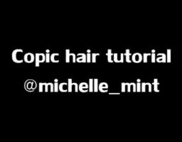Copic hair tutorial [GIF] by mintdesu