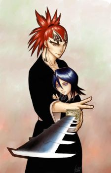 Bleach - Renji and Rukia by pika