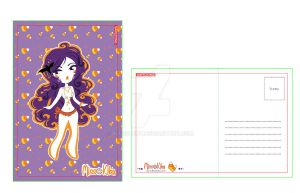 Halloween Postcard- Miss Vamp by Blush-Art