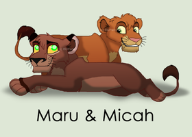 Maru and Micah ~ Comission for RogueLottie by RIOPerla