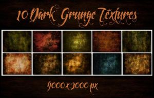 10 Dark Grunge Textures by Chrisdesign