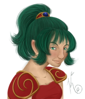 Blushing Terra - paint attempt by KatChan00